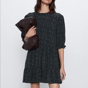 Zara floral print dress NWT